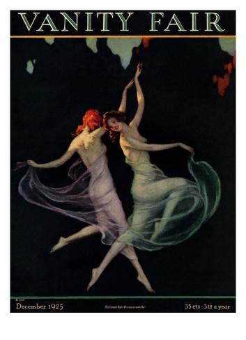 Vanity Fair Cover - December 1925 Giclee Print by Warren Davis at Art.com