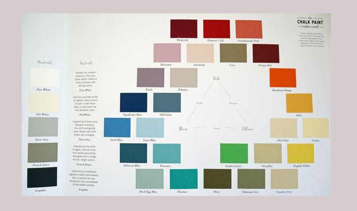 Annie Sloan Chalk Paint Color Chart Helpful Hints Pinterest Paint Colors Home And Colors