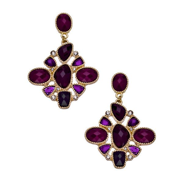 Blu Bijoux Gold With Red Chandelier Earrings 28 Liked On Polyvore