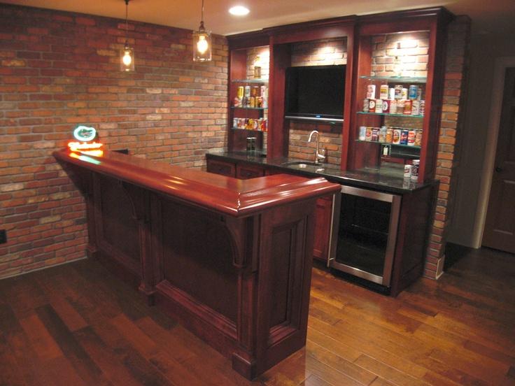 Angled View Small Custom Bar