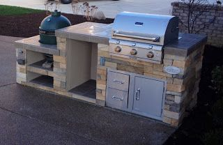 outdoor living big green egg smoker and saber grill custom outdoor kitchen couldn t use full on outdoor kitchen with smoker id=61017