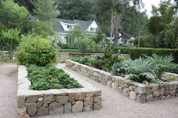 rock raised garden bed ideas 25+ best ideas about Stone raised beds on Pinterest