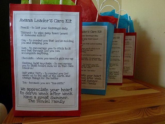 Awana Leaders Care Kit