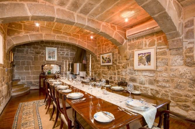 Perfect Conversion Of Rustic Glamourous Dining Hall In A