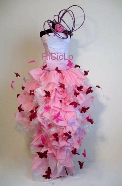 Recycled Dress By Raffaella Riccio Show At Se Il Design