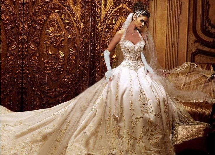 Wedding Dresses With Long Trains: Classy Elegant Cathedral