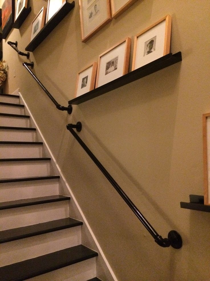 17 Best Images About For The Basement On Pinterest | Gas Pipe Stair Railing