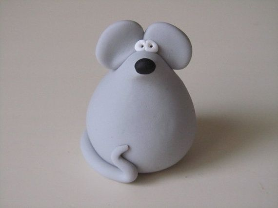 Cute Mouse Polymer Clay Polymer Clay Kids Animals