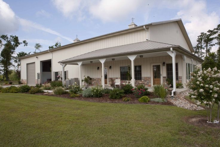 Morton Buildings Homehorse Barn Combo In Texas Homes