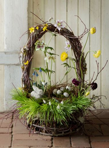 Image result for images of easter baskets hidden in the garden