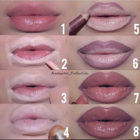 Image result for lip outline tutorial