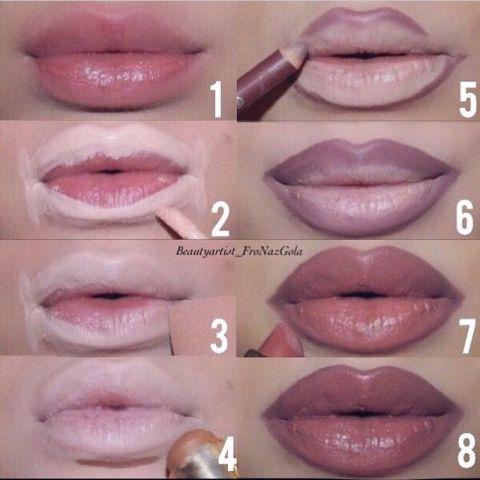 Image result for lip outline tutorial