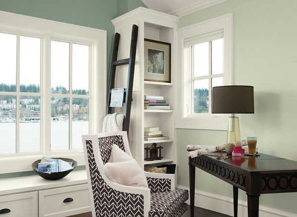 interior paint ideas and inspiration paint colors green on blue office color id=18010