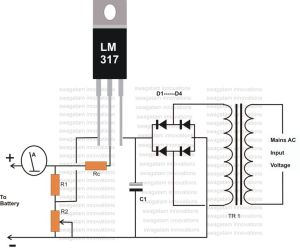 12 Volt Battery Charger Diagram | Electronic | Pinterest