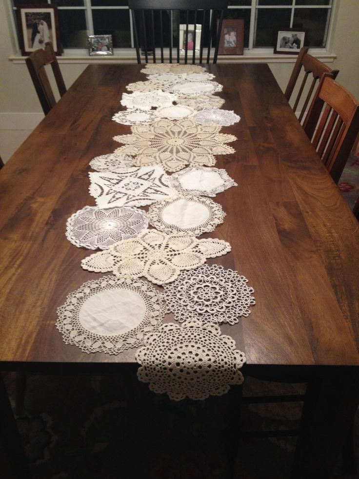 Doily Table Runner For The Home Pinterest Runners Cakes And Farmhouse Table