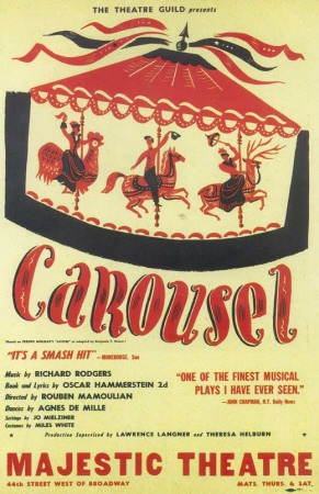Carousel Broadway Poster 1945 My Home My Theater