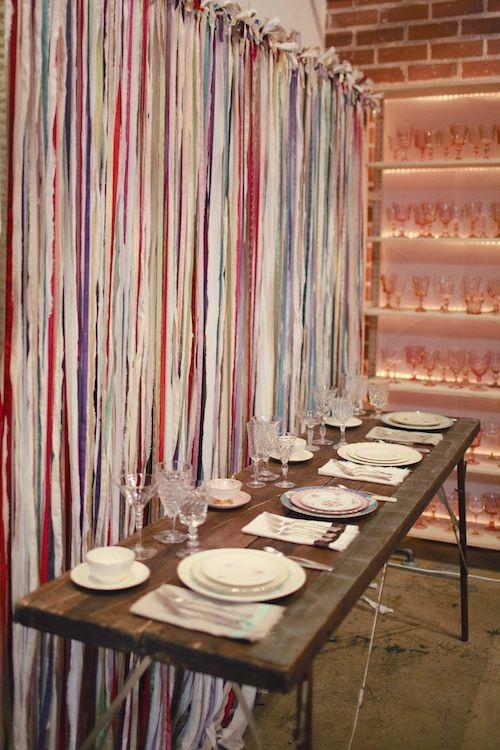 Best 25 Fabric Strip Curtains Ideas On Pinterest