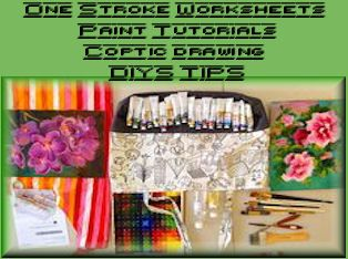 17 Best Images About OneStrokeWorksheets Paint Tutorials