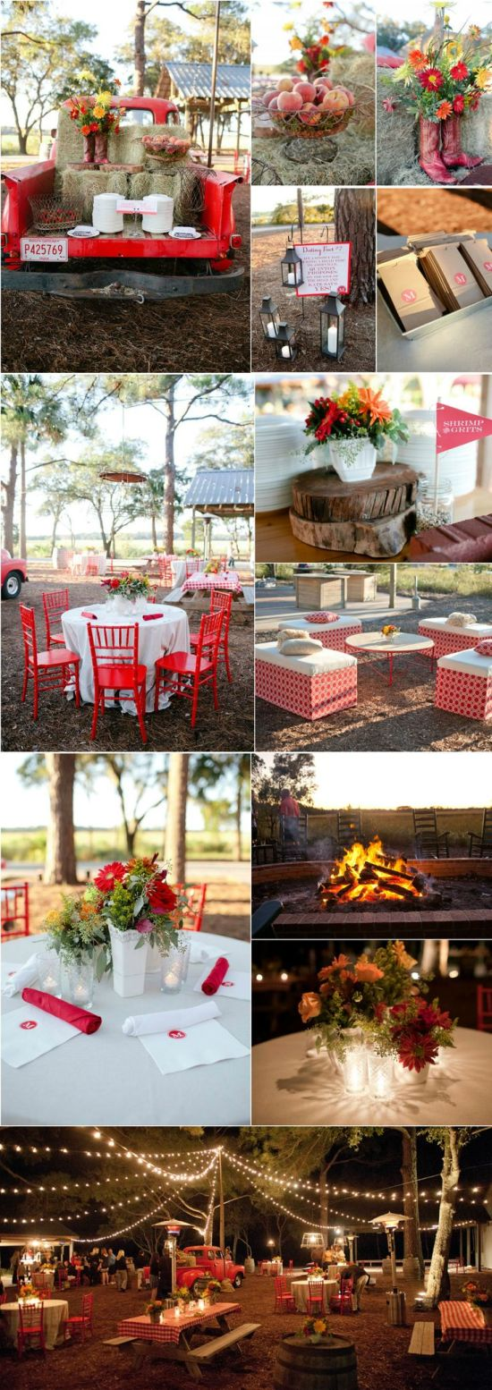 Outdoor ● Down Home Dinner Party  #rustic wedding ... Wedding ideas for brides, grooms, parents & planners ... https://itunes.apple.com/us/app/the-gold-wedding-planner/id498112599?ls=1=8 … plus how to organise an entire wedding ♥ The Gold Wedding Planner iPhone App ♥