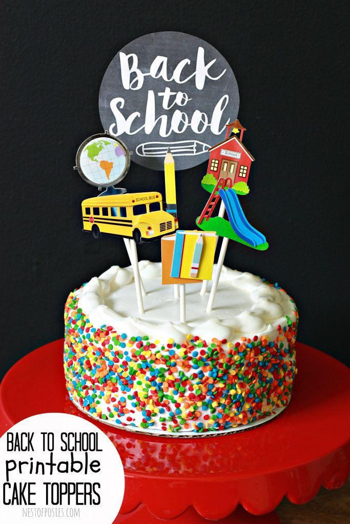Cake Topper For Back To School Teacher Graduation