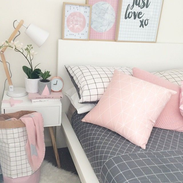Pink And Grey For You Bedroom Details Discover More Decor Ideas Www