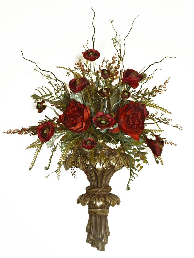 254 best images about flower arrangements on Pinterest ... on Wall Sconces With Flowers id=58578