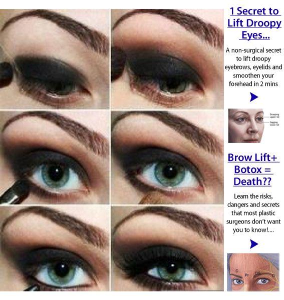 How To Apply Eye Makeup On Sagging Eyelids Hairsjdi