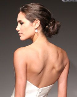"""Classic low bun with a hint of """"messy"""" #hair #updo #bun"""