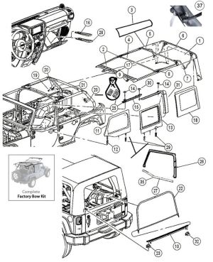 Interactive Diagram  Jeep Wrangler JK 4 Door Soft Top