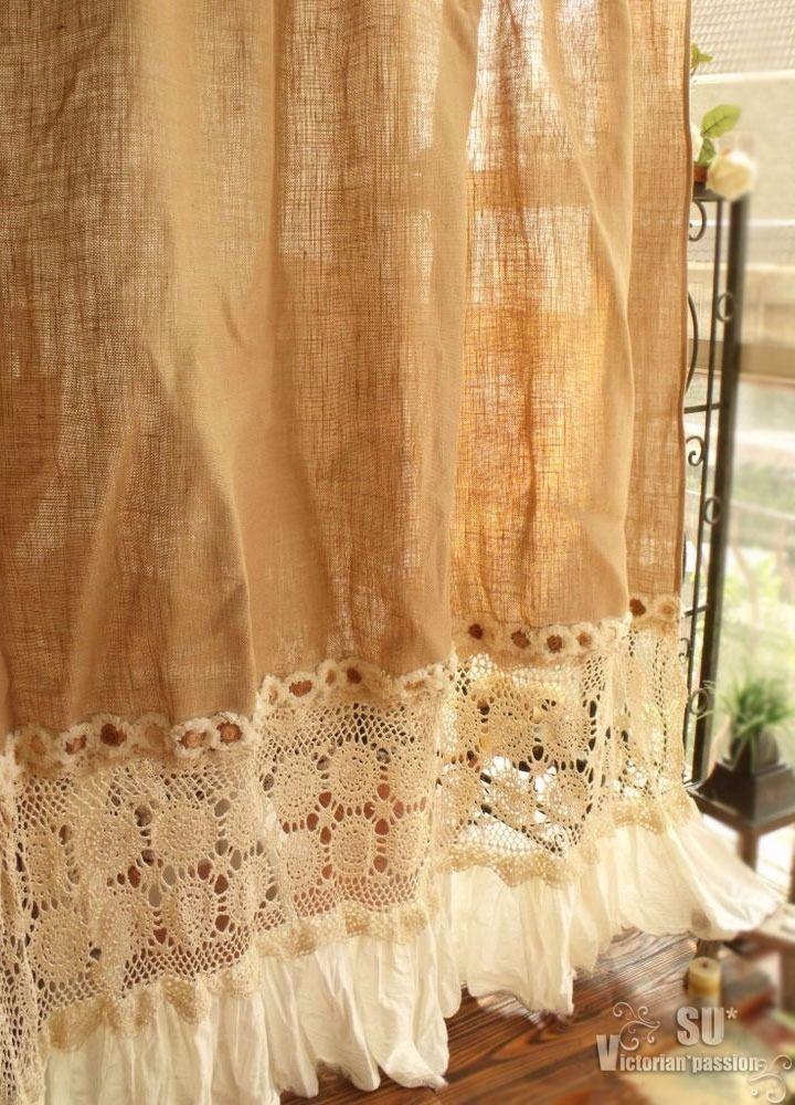 Best 25 Burlap Shower Curtains Ideas On Pinterest