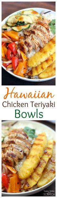 Hawaiin Chicken Teryiaki Bowl @ www.sweetparrishplace.com