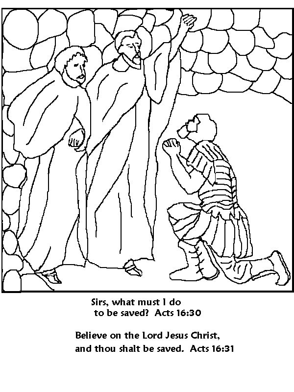 Paul And Silas Coloring Page Bible Paul Acts Amp His