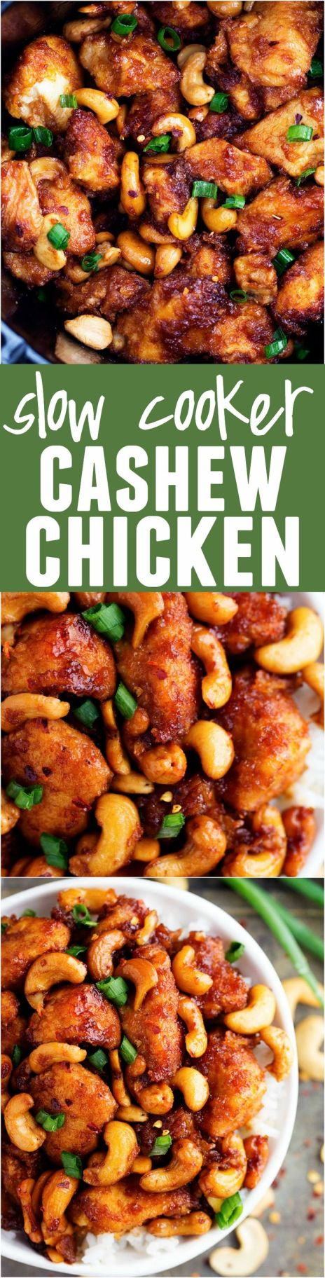 This Slow Cooker Cashew Chicken is WAY better than takeout!!! One of the best things I have ever had!!!!:
