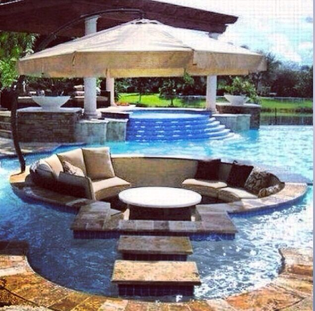 1000+ images about dream backyard on Pinterest | Fire pits ... on Dream Backyard With Pool id=58533