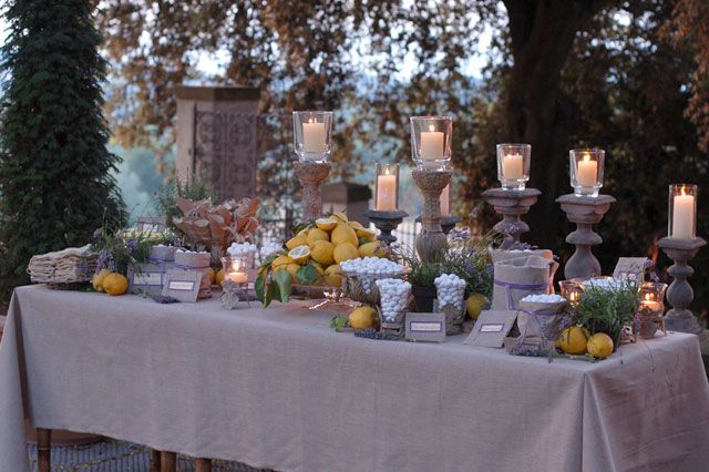 Italian Wedding Style The Lemons Wedding Buffets And Table Scapes