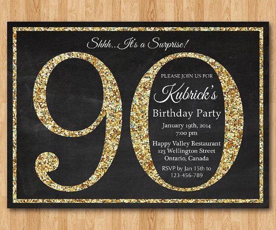 90th Birthday Invitation Cards Free – 90th Birthday Invitation Ideas