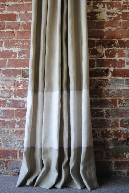 Banded Curtain Good Idea To Lengthen Nursery Curtain Or