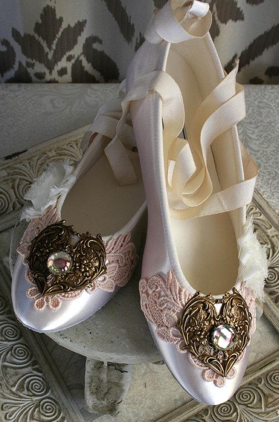 @Echo Brooks Peterson SELINA romantic Victorian wedding shoes #MoissaniteCandyBo