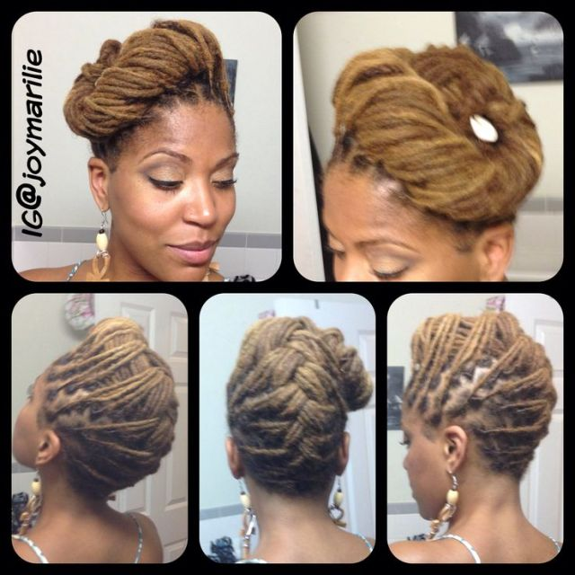 Joy Newton s locs  updo  hairstyle  Natural Hairstyles