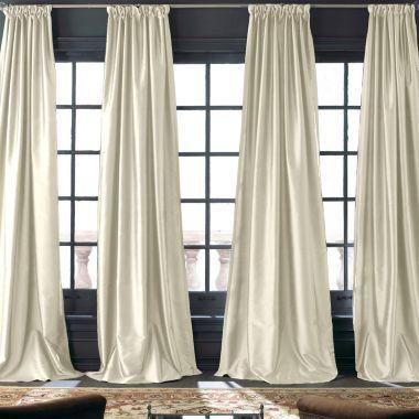 Royal Velvet Grandeur Silk Rod PocketBack Tab Curtain Panel Found At JCPenney Window