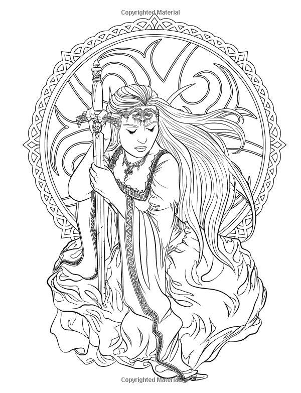 gothic  dark fantasy coloring book volume 6 fantasy art