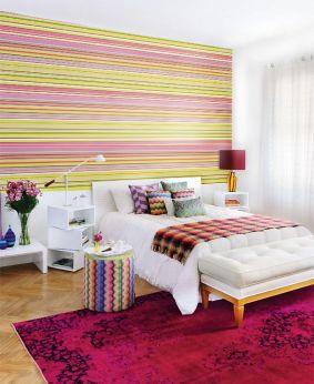 Quartos com papel de parede  no casinhacolorida-simone.blogspot.com.br