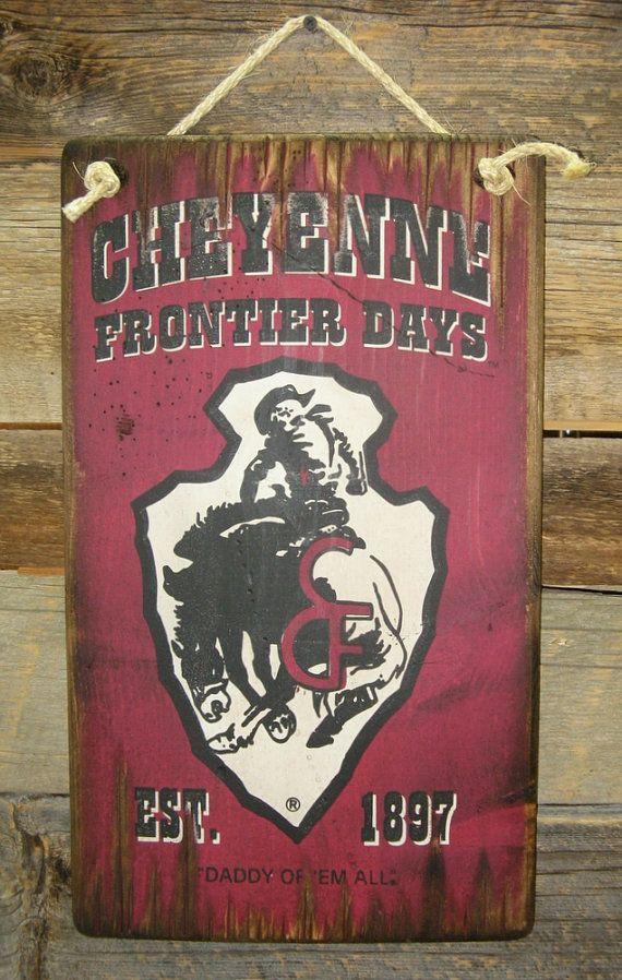 Cheyenne Frontier Days Daddy Of Em All Western Antiqued