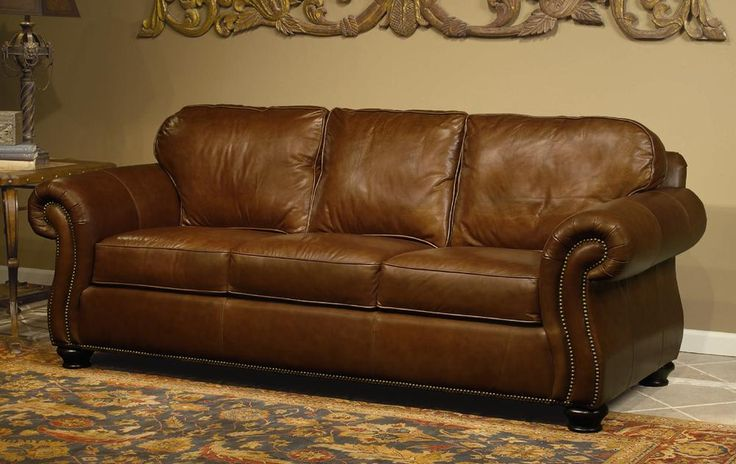 Vincent Sleeper Sofa By Bernhardt Leather Shown Is