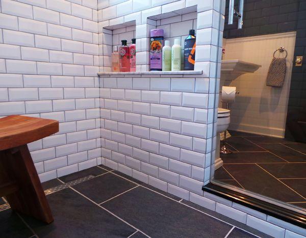 Pony Wall Shower Storage Bathroom Design Apple A Day