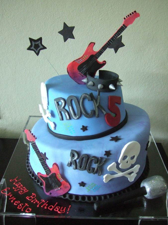 Rock Cake Birthday Cakes 50th Pinterest Rock