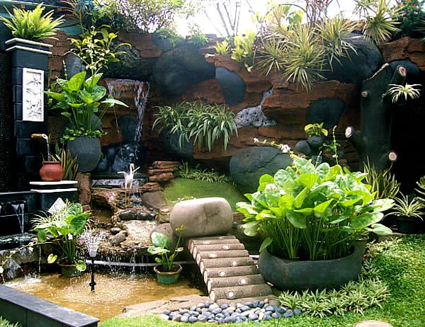 Small Tropical Garden Ideas for Home from Agit Landscape ... on Tropical Small Backyard Ideas id=15264