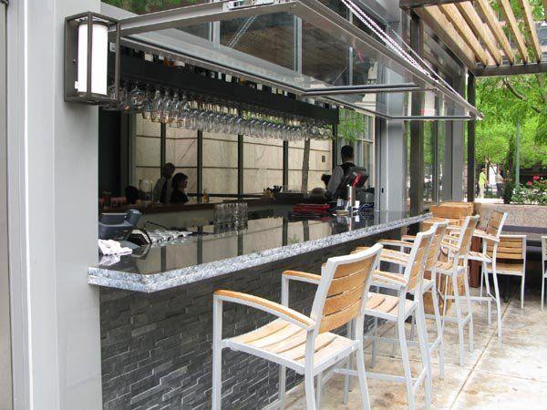 restaurant outdoor patio bars Indoor-outdoor bars are the new must-have for restaurants