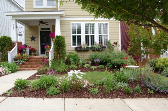 Idea For Front Yard Parking Stripbark Dust And Plants