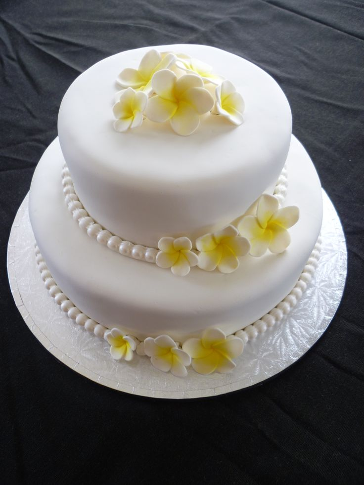 Frangipani Wedding Cake Cakes I Ve Made Cupcakes And